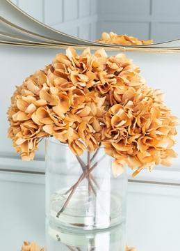 Autumn Hydrangea Glass Vase