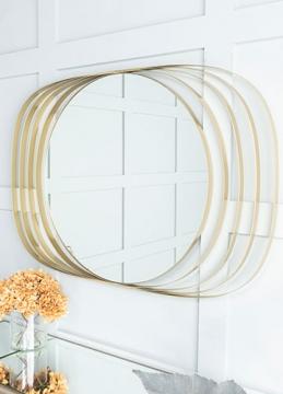 Grean Champagne Silver Oval Mirror