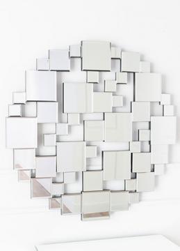 Kells Round Abstract Mirror