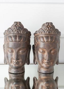 Morgan Bronze Buddha Bookend