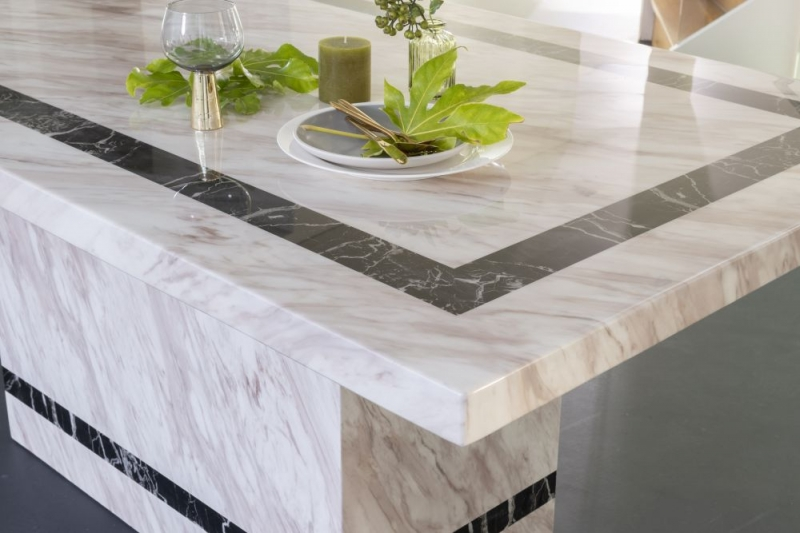 Barcelona Cream Marble 160cm Rectangular Dining Table