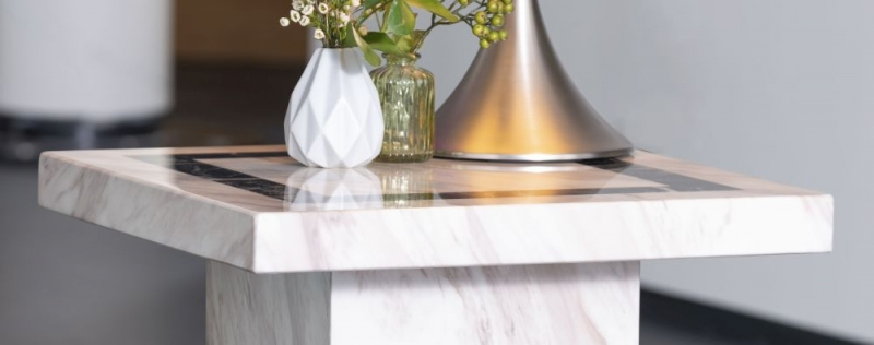 Barcelona Cream Marble Side Table