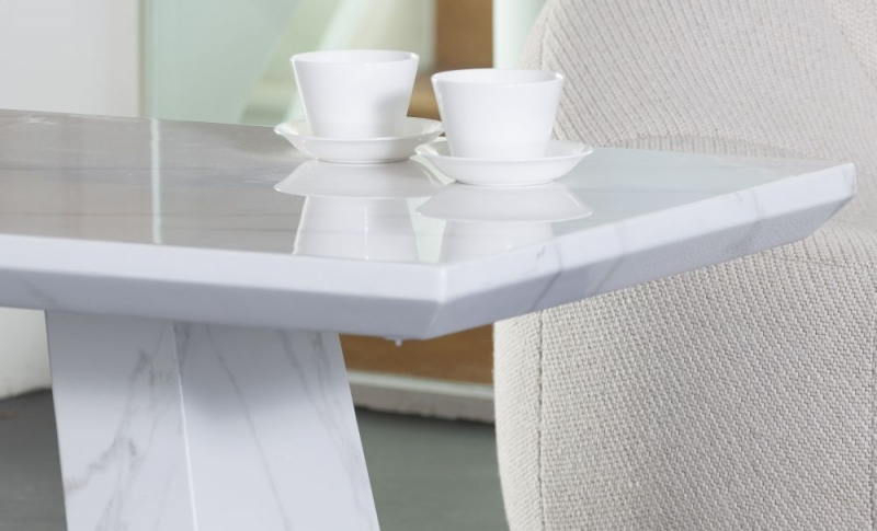 London White Marble Coffee Table