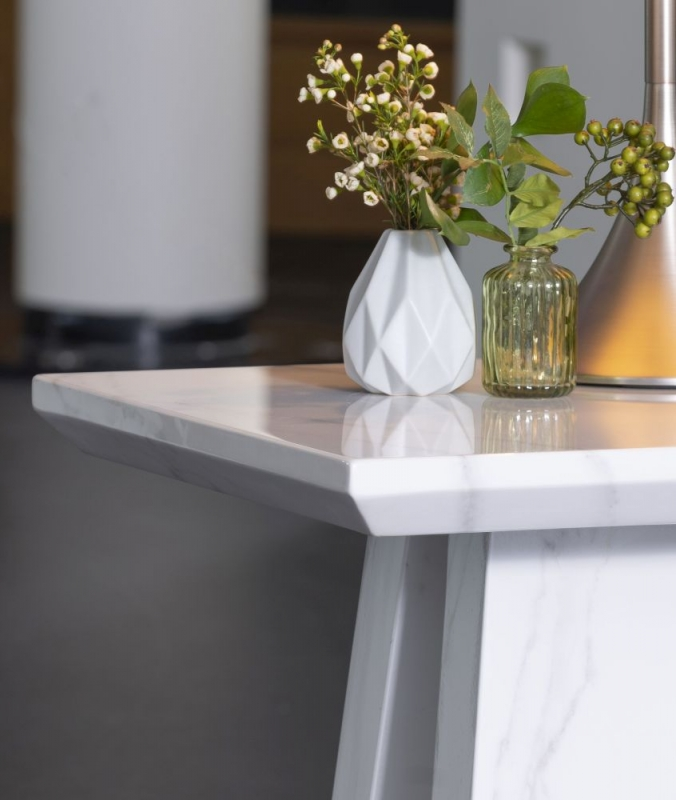 London White Marble Side Table