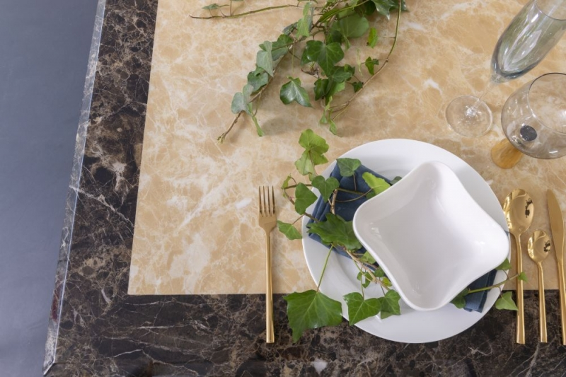 Florence Cream Marble Rectangular Dining Table