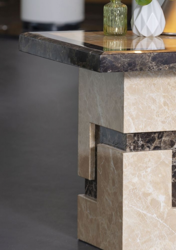 Florence Cream Marble Side Table