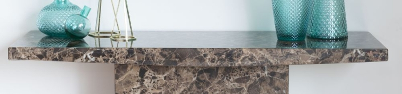 Prague Brown Marble Console Table