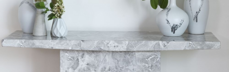 Prague Grey Marble Console Table