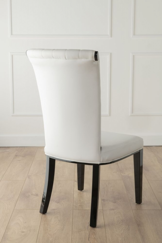 Nova White Faux Leather High Back Dining Chair