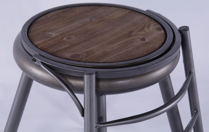 2 X Grey Metal Dining Chair