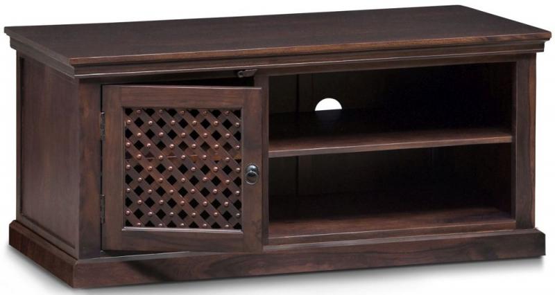 Wood Jali Sheesham 1 Door TV Unit