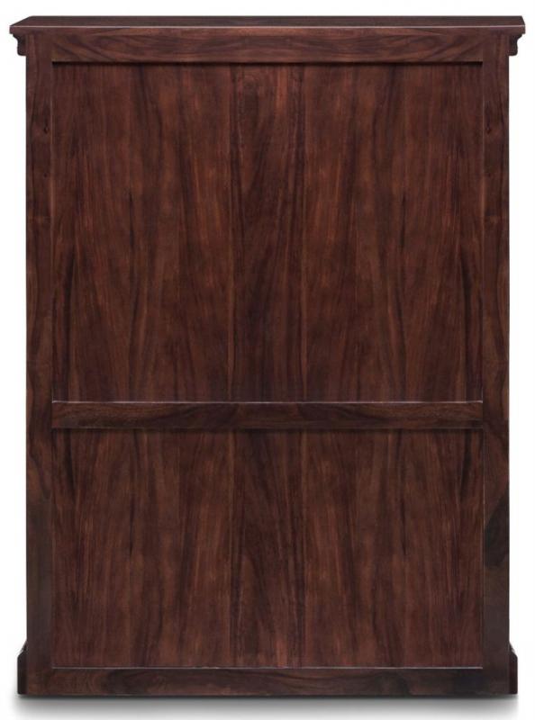 Iron Jali Sheesham 2 Door 1 Shelf Medium Bookcase