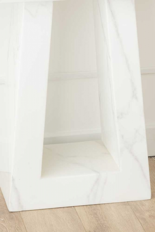 London White Marble Console Table