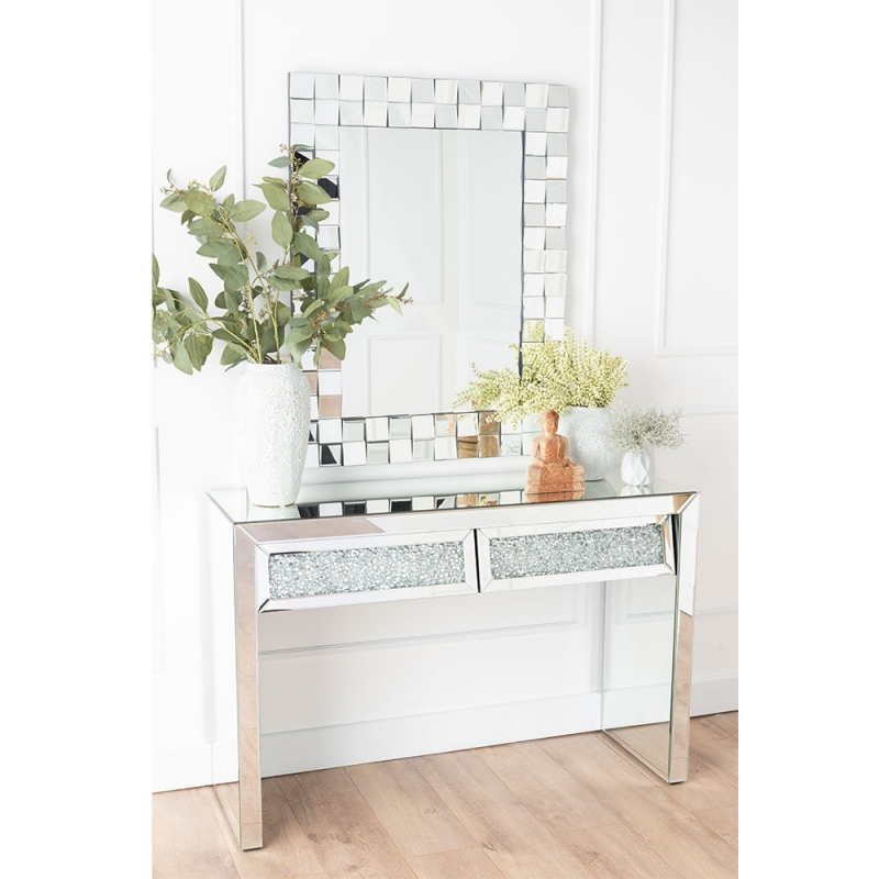 Gatsby Crystal Mirrored Dressing - Console Table