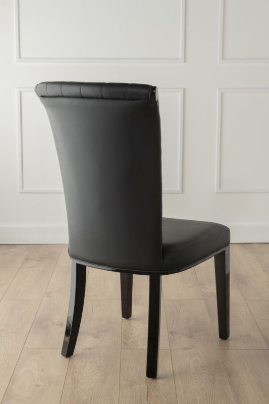 Nova Brown Faux Leather High Back Dining Chair