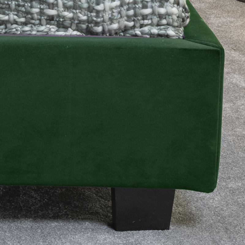 Tosca Green Velvet Fabric Upholstered 5ft King Size Bed