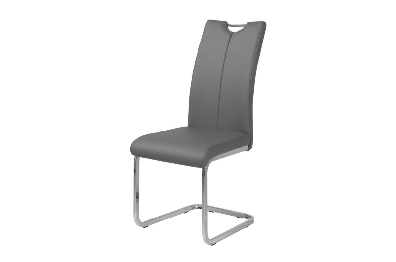 Milo Grey Faux Leather Cantilver Dining Chair