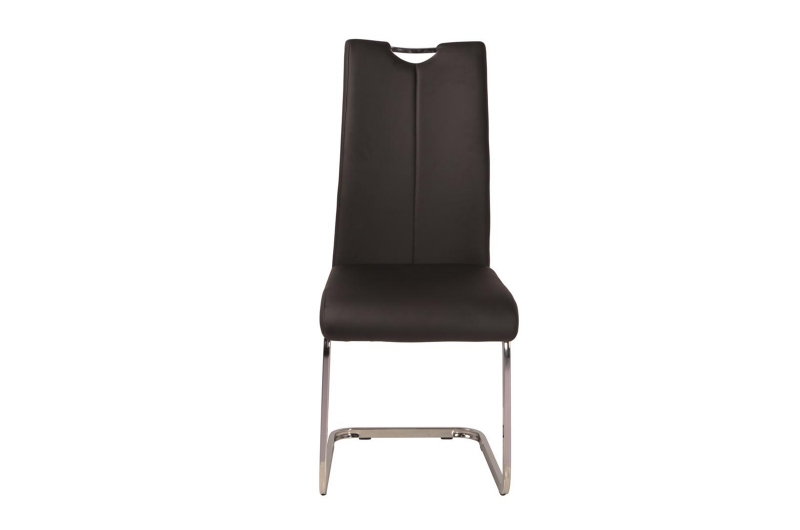 Milo Black Faux Leather Cantilver Dining Chair