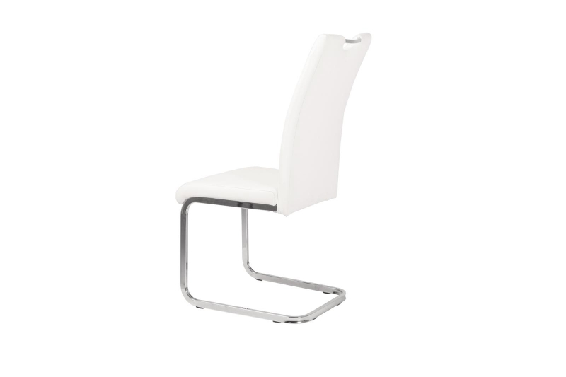 Milo Cream Faux Leather Cantilver Dining Chair