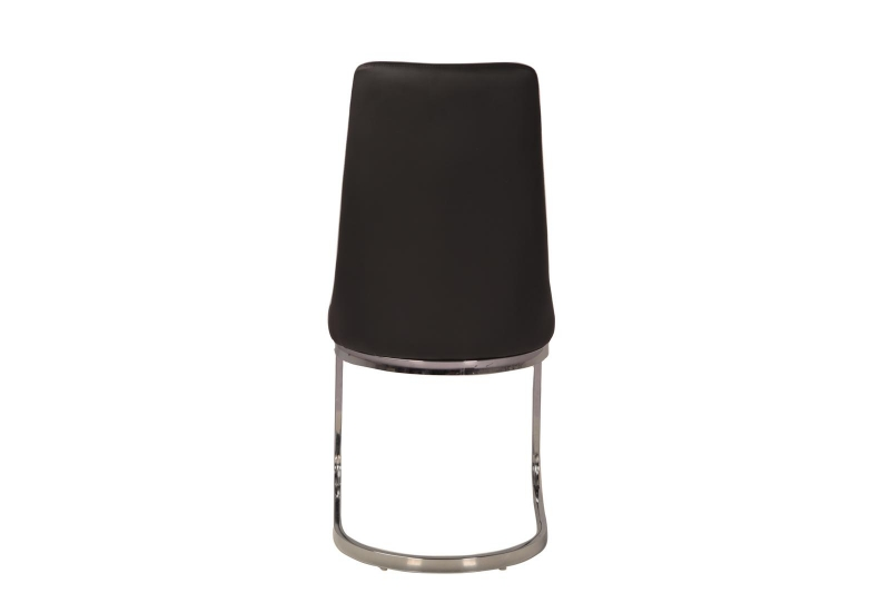 Nevada Black Faux Leather Swing Dining Chair